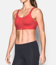 Women's Armour® Eclipse High Impact Sports Bra, Pomegranate, zoomed image