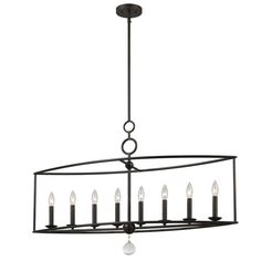 low-cost linear chandelier #16871