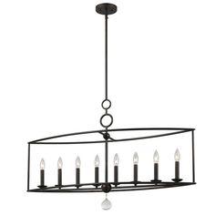 low-cost linear chandelier #16871