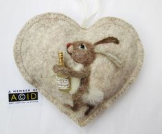 Félicitations lapin coeur décoration bien par SweetLibertyBelle