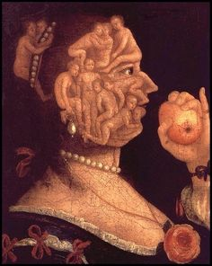 Giuseppe Arcimboldo Giuseppe Arcimboldo was an Italian painter best known for creating imaginative portrait heads made entirely of objects such as fruits, vegetables, flowers, fish, and books. Giuseppe Arcimboldo, Italian Painters, Italian Artist, Image Nature, Images Vintage, Photo Images, Bing Images, Free Art Prints, Illusion Art