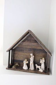 building with paint sticks diy nativity stable, christmas decorations, crafts, repurposing upcycling, seasonal holiday decor, woodworking projects