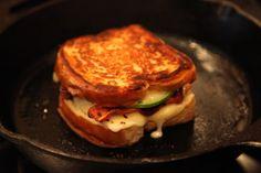 bacon avocado cheddar brie havarti grilled cheese