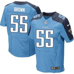 Zach Brown Men's Elite Light Blue Jersey: Nike NFL Tennessee Titans Home #55