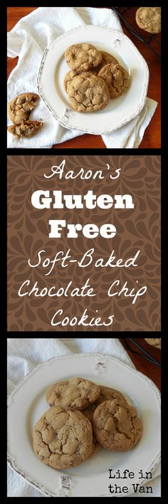 Simply the best GLUTEN FREE soft baked chocolate chip cookies around!  Easy to make, hard to keep around!  #glutenfree #eggfree #cookies #dessert #BobsRedMill #Ghirardelli https://lifeinthevan.com/2016/09/15/my-denial-and-aarons-soft-baked-chocolate-chip-cookies-gluten-free-egg-free/