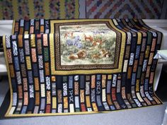 """from the quilt board. Used strips around the panel to make it a size that would work with 2.5"""" X 7"""" strips of  fabric. Good for using jelly rolls"""