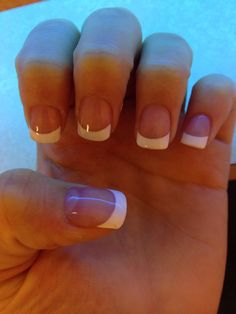 Cute French tip acrylic nails