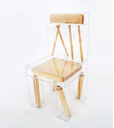"""As both an artwork and conceptual design piece, Exploded Chair by Joyce Lin straddles the line between art and function. The artist and designer is influenced by """"ideas on inter-connectivity, isolation, and the ever-shifting relationship between humans and the natural world,"""" but also interested in creating functional, interactive and playful objects and sculptures. Like all … #ChairArt"""