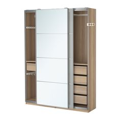 IKEA - PAX, Wardrobe, , , 10 year guarantee. Read about the terms in the guarantee brochure.You can easily adapt this ready-made PAX/KOMPLEMENT combination to suit your needs and taste using the PAX planning tool.Perfect where space is limited since the frame is narrow.... £415