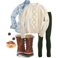 Sorel boot outfit-- going to be my kind of outfit this winter! in desperate need of sturdy, durable boots & I think these will be it :)