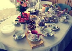 Hmm! Table full of Tea and yummies!