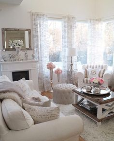 Beautiful living room! Different curtains maybe?