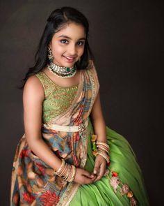 Half Saree Lehenga, Kids Lehenga, Kids Saree, Baby Lehenga, Baby Girl Skirts, Dresses Kids Girl, Baby Dresses, Designer Party Wear Dresses, Indian Designer Outfits