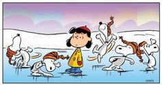 ice skating with snoopy!
