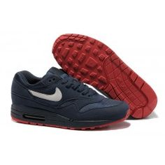 low priced 81f89 b1bf2 2012 New Nike Air Max 87   Air Max 1 Running Shoes - Ink Blue Nike