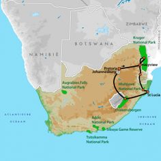 Wildparken van Zuid-Afrika - Groepsreizen Zuid-Afrika - NRV Augrabies Falls, Tsitsikamma National Park, Kruger National Park, Game Reserve, South Africa, Euro, Traveling, National Forest, Viajes