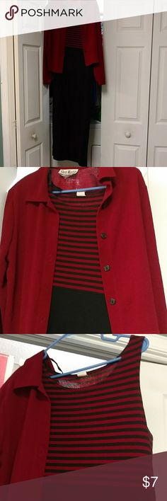 Dress with jacket Slinky dress with jacket. 95% polyester. Jacket is a Garnet red color. Dresses Maxi