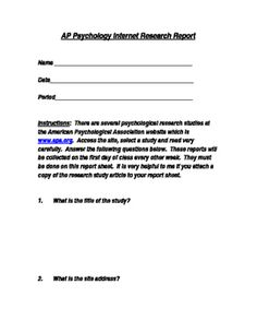 School Psychology writing assignments topics