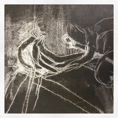 Ghost print of a traced #monoprint at #ShadwellPrintStudio #printmaking #studio #TowerHamlets #EastLondon #WednesdayClass #PrintmakingForBeginnersCourse #ShortCourses