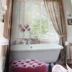 gorgeous lilac bathroom