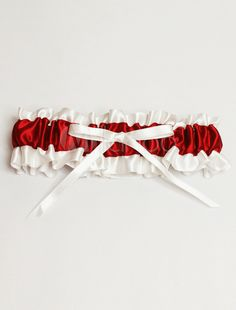 Gorgeous Red Satin Wedding Garter for Bride