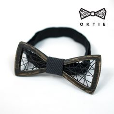 OKTIE Black Net Wooden Bow Tie Handmade Bowtie Mens Wood Accessory Bow-tie Gift for Men by OKTIEofficial on Etsy