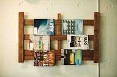Adorable way to display magazines