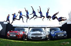 Jumping over Mini Coopers. #minicooper #fitness