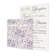 Happily Ever After Floral Wedding Invitations