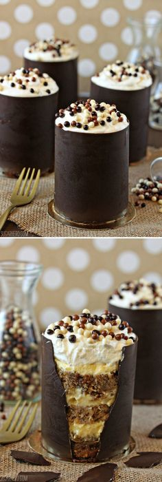 Banana Bread Tiramisu, in an edible chocolate shell!