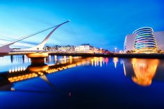 The Samuel Beckett Bridge is a cable-stayed bridge in Dublin that joins Sir John Rogerson's Quay on the south side of the River Liffey to Guild Street and North Wall Quay in the Docklands area.