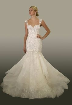 Sweetheart Mermaid Wedding Dress  with Natural Waist in Tulle. Bridal Gown Style Number:33203704