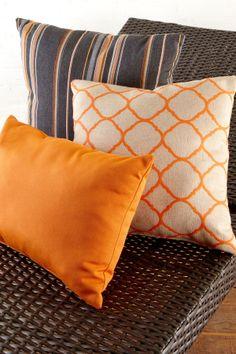 #TossPillows Make your own Sunbrella Outdoor pillows for your outdoor living space.