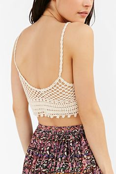 Ecote Vanessa Crochet Bra Top - Urban Outfitters