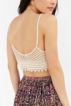 Ecote Vanessa Crochet Bra Top - Urban Outfitters