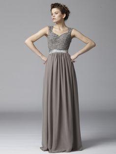 Beaded Lace and Chiffon Dress