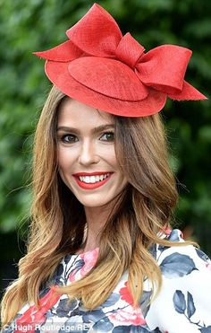 Elegant outfits on day two of Royal Ascot 2014 - Derby Day - Urban Royal Ascot Hats, Derby Outfits, Red Hat Society, Pamela, Millinery Hats, Cocktail Hat, Fancy Hats, Love Hat, Red Hats