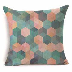 Home Textile Back To Search Resultshome & Garden Realistic Colorful Geometric Cushion Cover Almofada Decorative Pillows Coussin Para El Hogar Decoracion Linen Animal Throw Car Pillow Cove
