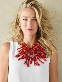 Shop Chico's for the best in Aquatic themed jewelry. We've got Women's Bib Necklaces, Earrings, Rings and more in Coral, Faux-pearls, Shell beads and so much more at prices you'll love. Bold Necklace, Diy Necklace, Boho Chic, Collar Hippie, Only Clothing, Chicos Jewelry, Baubles And Beads, Coral Jewelry, Neck Piece