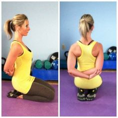 6 stretches and yoga poses for better posture and to prevent rounded shoulders: Yoga Motivation, Forma Fitness, Fitness Diet, Health Fitness, Bad Posture, Posture Stretches, Stretches For Shoulder Blades, Exercises For Rounded Shoulders, Exercises For Better Posture