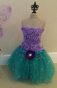 Purple tutu set Purple tutu Dress Little Mermaid by partiesandfun