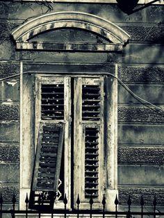 grey scale aged window
