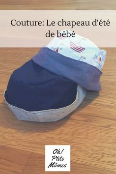 Couture tutorial and pattern of the reversible baby hat oh Little Kids Bob Bebe, Baby Boy Hats, Baby Couture, Baby Time, Baby Patterns, Beret, Dressmaking, Sewing Tutorials, Crochet