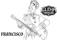 Disney's Elena of Avalor Coloring Pages Sheet, Free Disney Printable Elena of Avalor Color Page