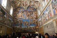 One of many attractions in the Vatican City, the Sistine Chapel was painted by Michelangelo and is best known for the image of the Hand of God giving life to Adam that appears on its ceiling. As well as the ceiling, every wall is also covered with intricate biblical details, turning the entire chapel into a truly incredible and unique piece of art.