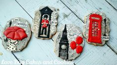 #6 London by Love Bug Cookies