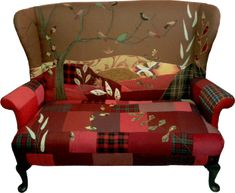 patchwork upholstery: rustiqueinteriors.co.uk