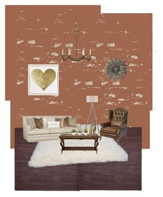 """""""Rustic chic"""" by lerziee on Polyvore featuring interior, interiors, interior design, home, home decor, interior decorating, Tadpoles, nuLOOM, Ziggy and Noir"""