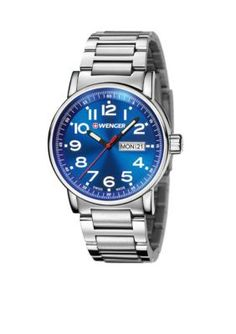 Wenger  Mens Attitude Stainless Steel Swiss Watch
