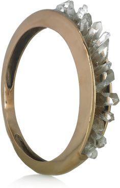 Bronze and Quartz Crystal Bangle